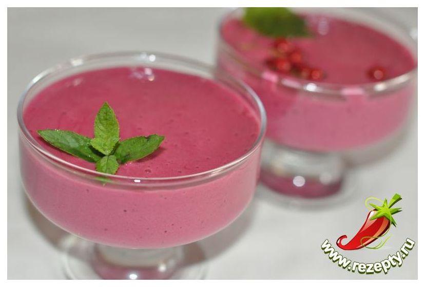 Медовый мусс с ягодами рецепт