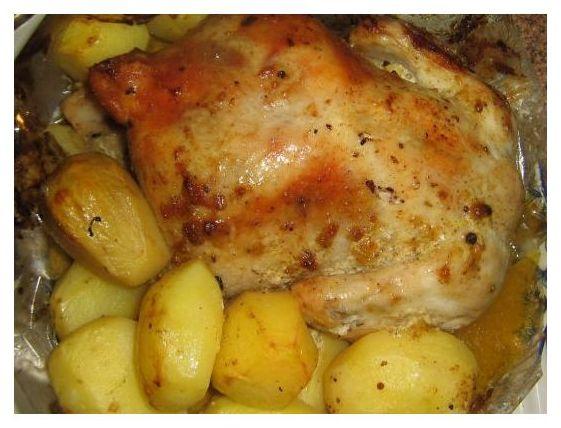 Приготовить курицу с картошкой в рукаве в духовке