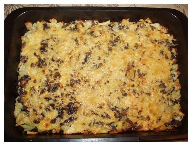 Блюда из шампиньонов в духовке с картошкой