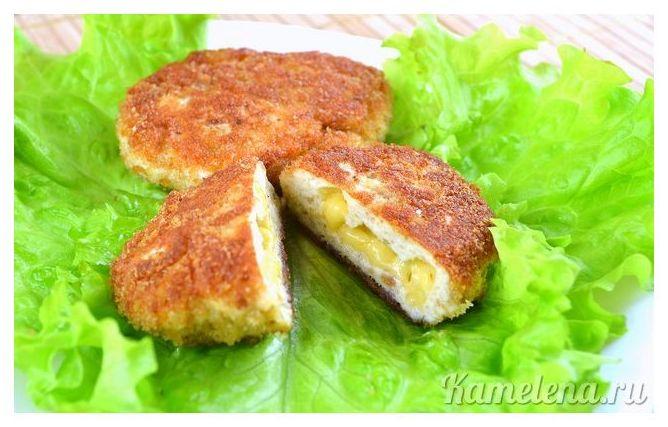 Котлеты с сыром внутри рецепт с фото