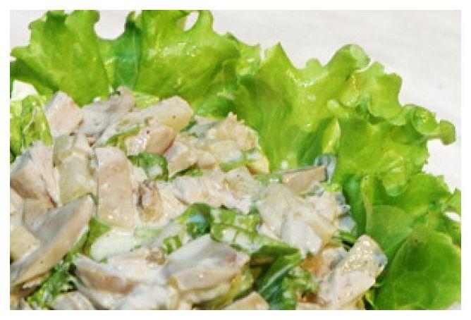 Салат с ананасом и курицей грибами рецепт с