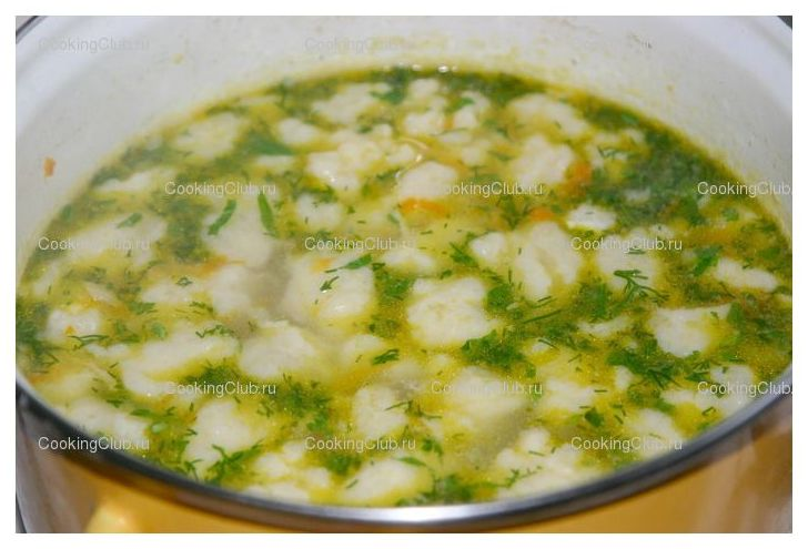 смотреть рецепт супа с галушками
