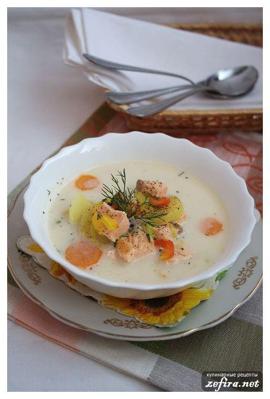 Сырный суп рецепт с рыбой и плавленным