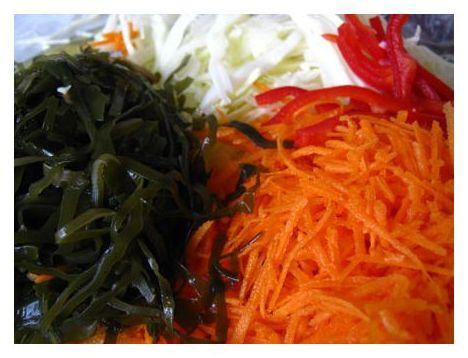 салат из морской капусты с кукурузой калорийность