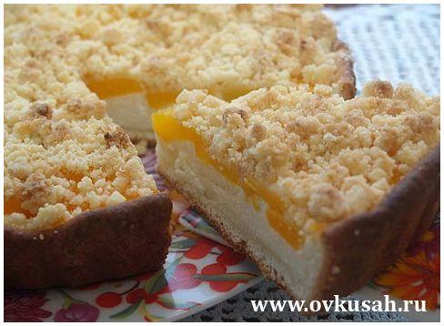 128Рецепт творожного пирога с персиками консервированными